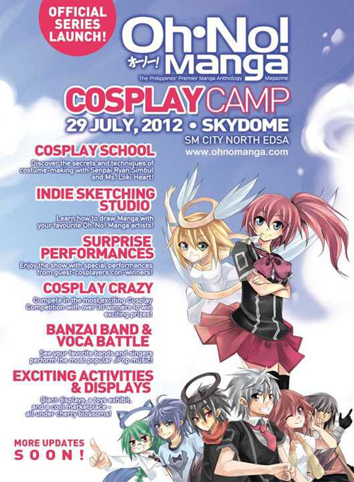 oh no! manga cosplay camp