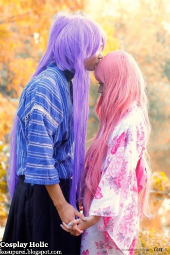 vocaloid 2 cosplay - kamui gakupo and megurine luka by jl